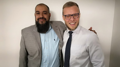 Moosa Jogee, head of IT at the company (left) and eNetworks' senior consultant: WAN and ISP services, Frederik van Staden (right)