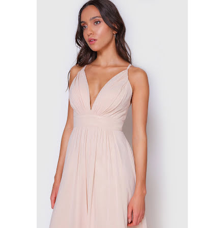 Ella V-neck cross back dress