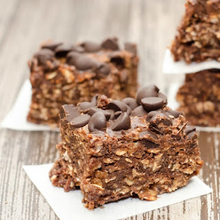 Chocolate Peanut Butter Oatmeal Cookie Bars.