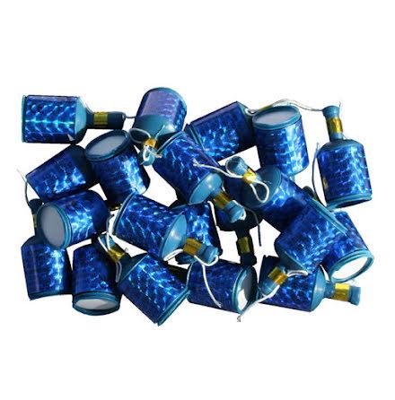 Partypoppers, blå 20 st