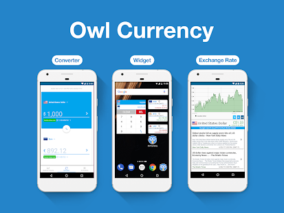 Owl Currency - exchange rate & currency converter - náhled