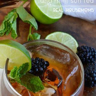 Blackberry Lime and Mint Sun Tea