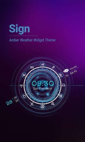 android Sydney Weather Clock Horoscop Screenshot 0
