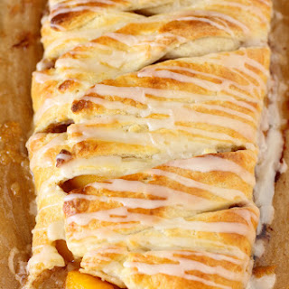 Peach Cobbler Pastry Braid