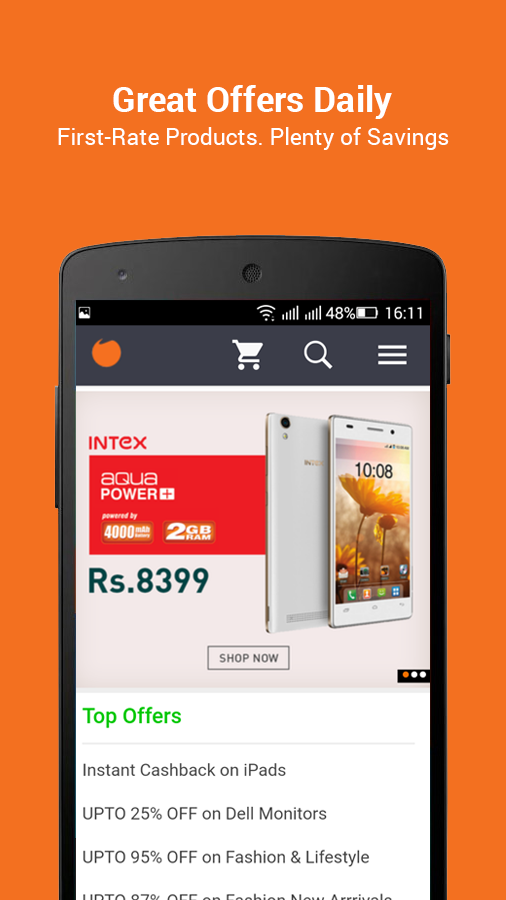 Infibeam Online Shopping App- screenshot
