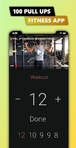 100 Pull Ups – Upper Body Workout, Men Fitness 2.9.0 Unlocked MOD APK Android 1