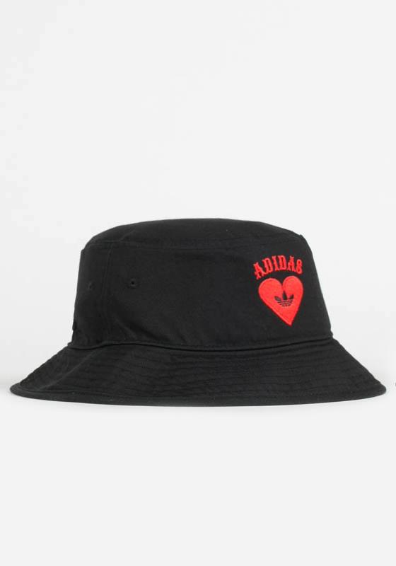 adidas Originals V-Day Bucket Hat - Black Red  4e9c125ecd