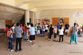 Photo: Prise de contact au camp de Beit Jala (Bethléem)