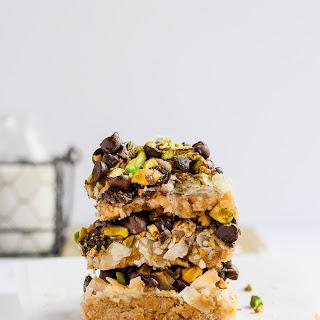 Pistachio Seven Layer Cookie Bars (Dairy-Free + Vegan).