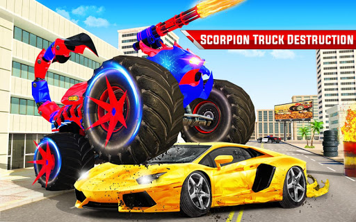 Scorpion Robot Monster Truck Transform Robot Games 9 screenshots 13