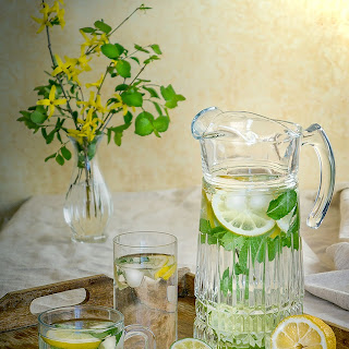 Lemon Mint Ginger Water For Weight Loss (Flat Tummy).
