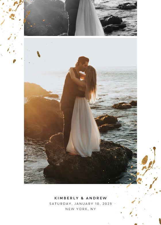 Kim & Andrew's Wedding - Wedding Invitation Template