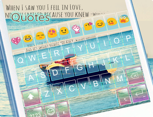 android Quotes Emoji Keyboard Theme Screenshot 4