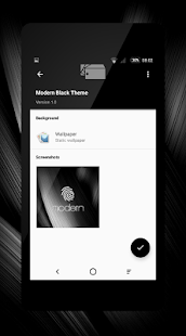 Modern Black Theme + Icons- screenshot thumbnail