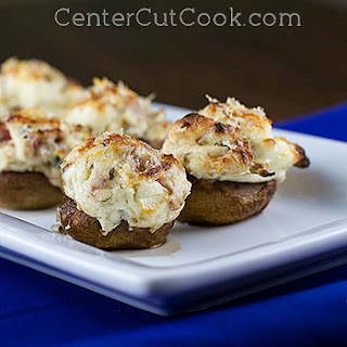 Bacon Parmesan Stuffed Mushrooms