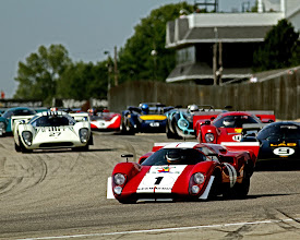 Photo: This one isn't any flying or parts, it's just the beauty of a field of vintage Can-Am Lola T70s