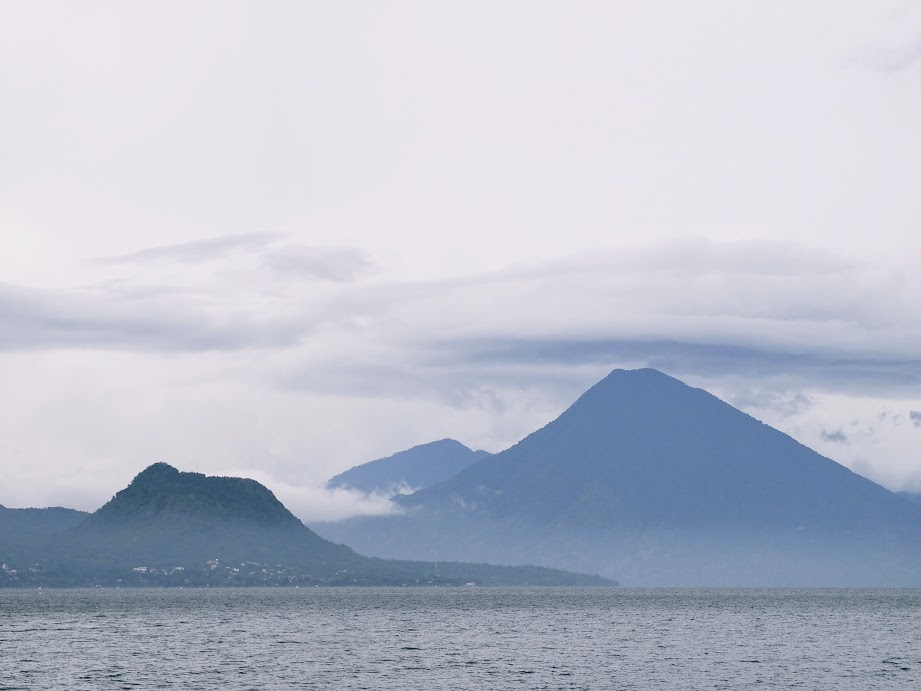 Moody sky over Lake Atitlan, Guatemala