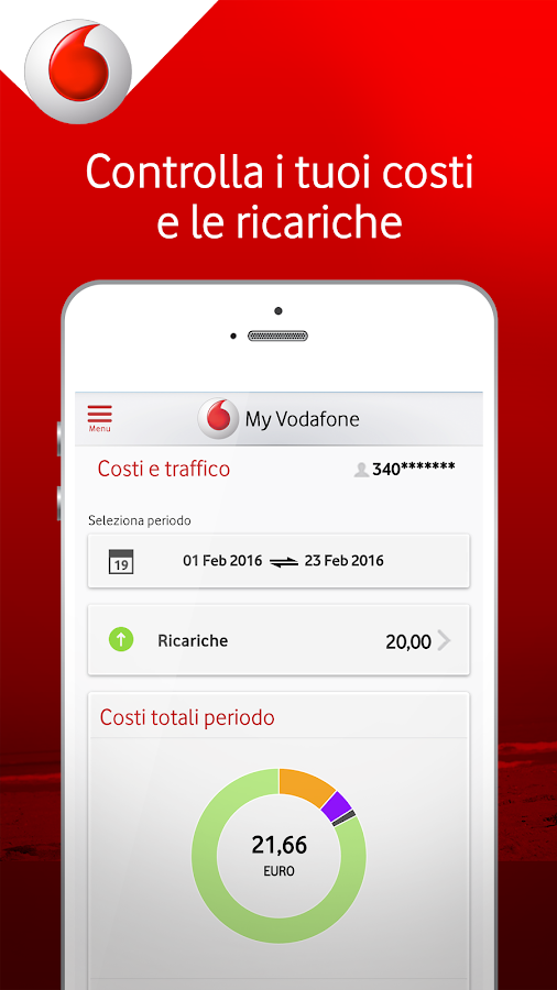 My Vodafone Italia- screenshot