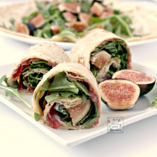 Fig, Prosciutto and Arugula Sandwich Wrap.