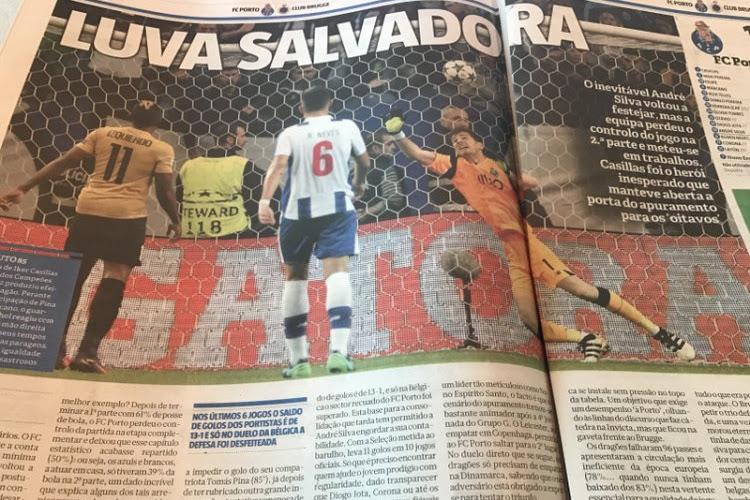 """Iker Casillas de held volgens Portugese media: """"Hij redde Porto"""""""