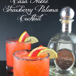 Casa Noble Strawberry Paloma Cocktail.
