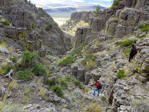 Photo: Canyon short-cut to the car. The hike ended up being 4.9 miles.