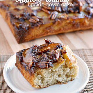 Apple Upside Down Butter Pecan Cake