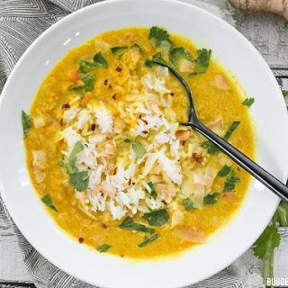 Golden Coconut Lentil Soup.