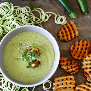 Zucchini & Edamame soup