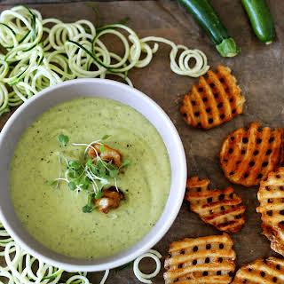 Zucchini & Edamame soup.