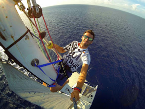 Photo: Selfie with my GoPro on top of Agility's mast