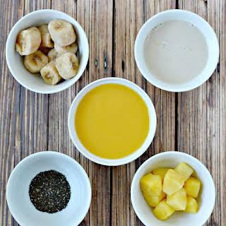 Pineapple Banana Orange Breakfast Smoothie.
