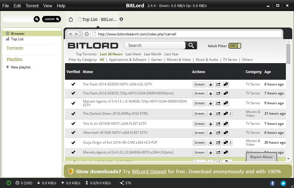 Try Bitlord Usenet