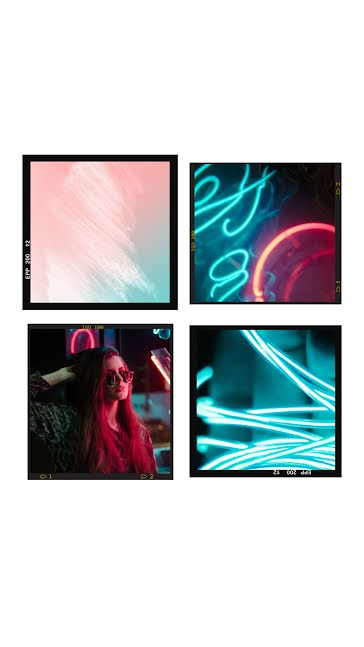Neon Collage Frame - Facebook Story Template