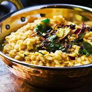 Lentil Dhal with Roasted Garlic and Whole Spices Recipe