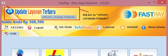 cara update fastpay