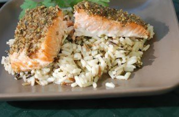 Salmon Fillets With Country Herb Crust Recipe