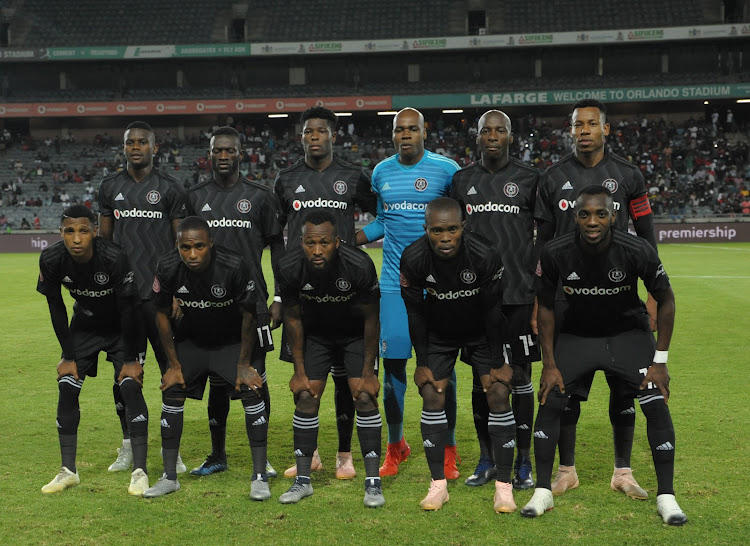 The Orlando Pirates' team that started the Absa Premiership match against Maritzburg United at Orlando Stadium in Soweto on December 1 2018.