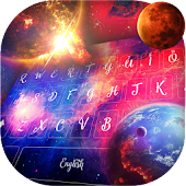 Rainbow Sparkling Galaxy Planet Keyboard
