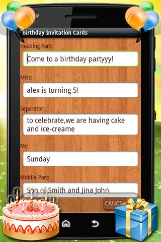 Birthday party invitation card apk download apkpure birthday party invitation card screenshot 4 stopboris Images