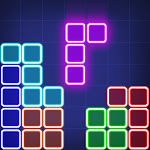 Puzzle game : Glow block puzzle Icon