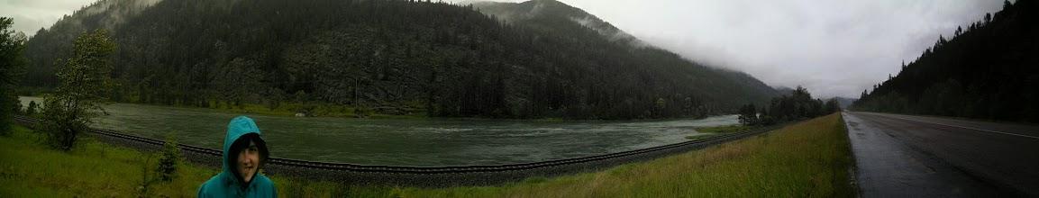 Photo: Following along the Kootenai river