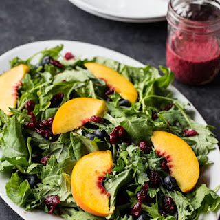 Blueberry, Peach Kale Salad