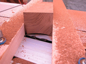 Photo: modification on the saw to make concave undercuts