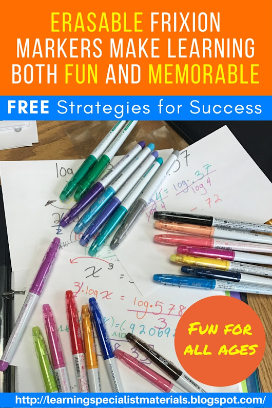 Erasable Frixion Markers Make Learning Both Fun and Memorable