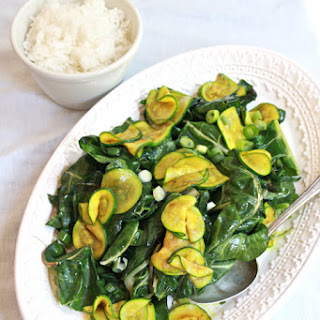 Curried Zucchini And Swiss Chard.