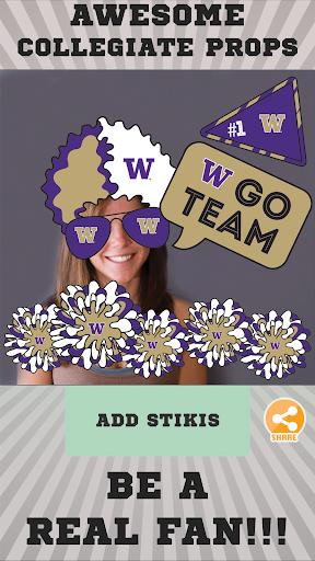 Washington Huskies Selfie Stickers cheat hacks