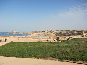 Photo: Ruins of the hippodrome at Caesaria