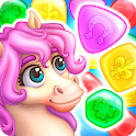 Match3 Magic: Prince unicorn lovely story quest icon