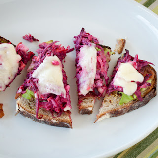 Beet and Blue Cheese Slaw Sandwiches